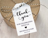 Thank you for celebrating with us - Wedding Favor Tags - Custom Tags - Wedding Labels - Wedding Favor Ideas - Personalized Tags - SMALL