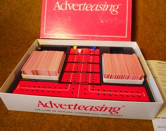 Vintage Adverteasing Board Game, c.1988 - Slogans Commercials and Jingles - Cadco
