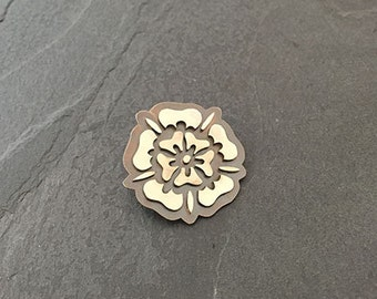 Yorkshire Rose Pin Brooch