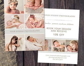 Promo Card - Photography Marketing Template Flyer Postcard Template Board 002, INSTANT DOWNLOAD