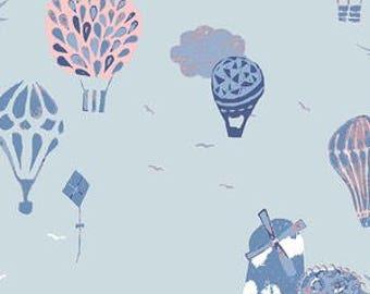 Baby Bedding Crib Bedding - Coral, Blue, Pink, Hot Air Ballon, Windmill, Baby Girl, Baby Shower, Nursery
