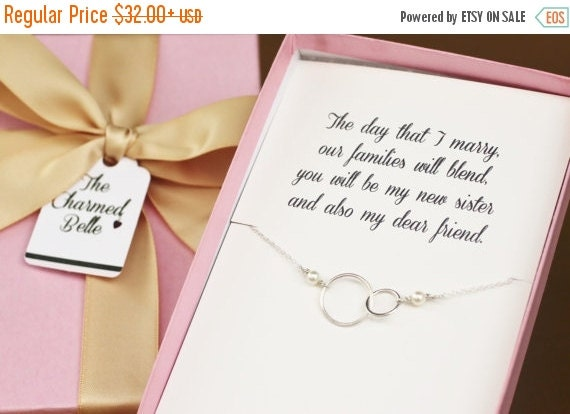 Wedding Gift For Sister Cash : Sister, Wedding, Necklace, Wedding Gift, Shower Gift, grooms sister ...