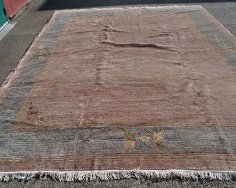 Huge Muted Tibetan Rug -- 13 ft. 2 in. by 10 ft.