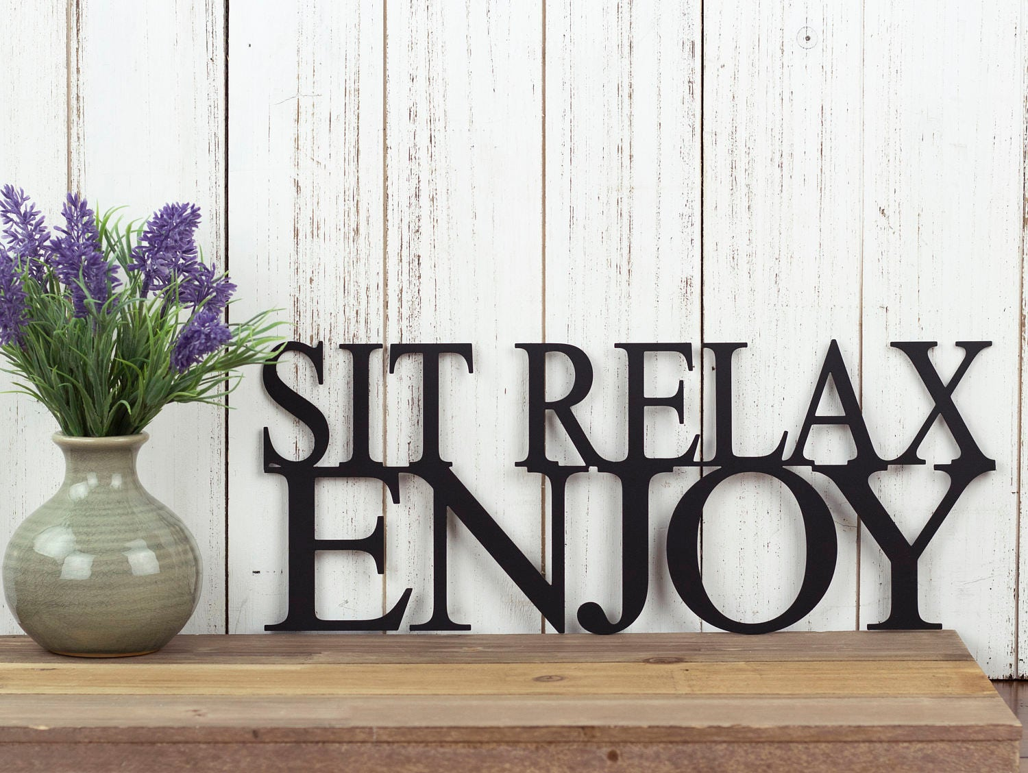 Sit Relax Enjoy Metal Wall Art Metal Sign Wall Decor