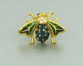 Vintage AVON 'Beautiful Bee' Pin (1997).  Rhinestone and Enamel Bee Lapel Pin. Vintage Bee Pin. Vintage Avon Lapel Pin. Vintage Avon Jewelry