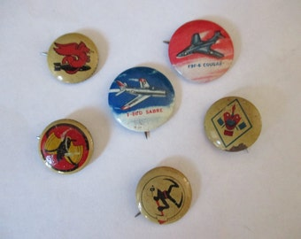 1940s Kelloggs pep pins military insignia WWII