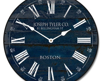 Barnwood Navy Blue Wall Clock