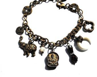 Vintage Ganesha Bracelet / Figa Fist Bracelet / Crescent Horn Bracelet / Good Luck Yoga Bracelet / Elephant Bracelet / Bohemian Bracelet