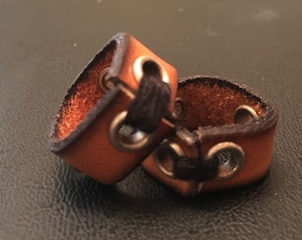 Leather Dread Bead with rivets