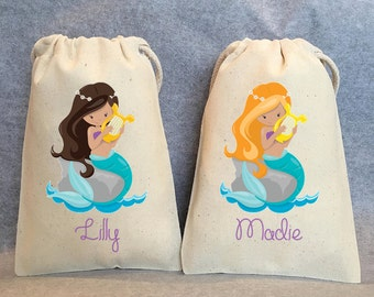 "15- Mermaid Party, Mermaid Party Favor, Mermaid Birthday, Mermaid birthday supplies, Mermaid party favor bags- 5""x8"""