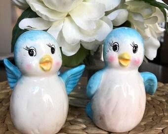 Blue Bird Salt and Pepper Shakers