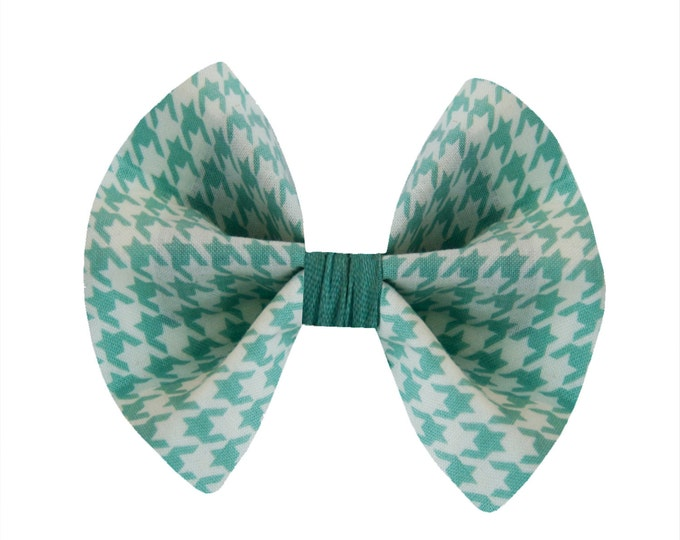 Blue Houndstooth Bow Tie