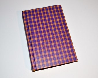Upcycled plaid book clutch