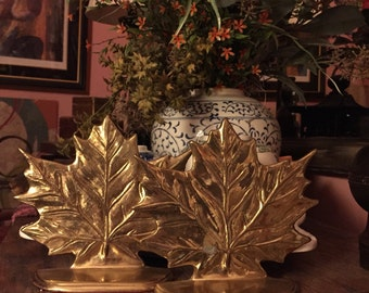 Brass Maple Bookends