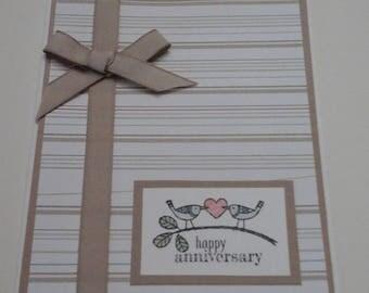 Wedding Anniversary Card, Lovebirds