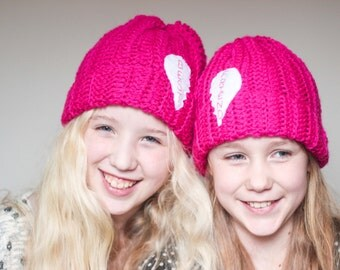 Best Friend Beanies/ Best Friend Hats/ Girls winter hat/ Crocheted Hat/ Best Friend gifts/ Friend Gifts/ Twin hats/
