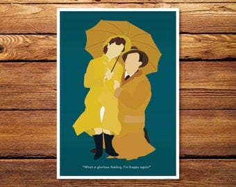 "Singing In The Rain 5""x7"" Giclee Print"