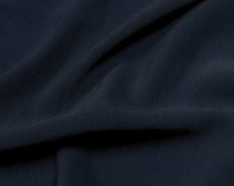 Navy 59'' Poly Hi-Twist Chiffon Fabric  by the Yard, Chiffon Fabric, Wedding Chiffon, Lightweight Chiffon Fabric - Style 687