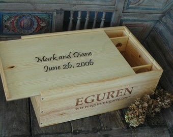Wine Crate Wedding Card Box Storage Container Personalized Gift