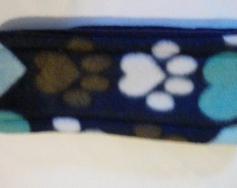 Blue Paw Prints Ear warmer headband