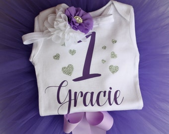 First Birthday Outfit, Cake smash outfit, purple birthday outfit