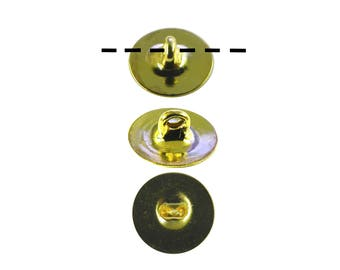 100 Gold Plated 6mm Glueable Button Backs Shanks.  DIY Make a button out of almost anything
