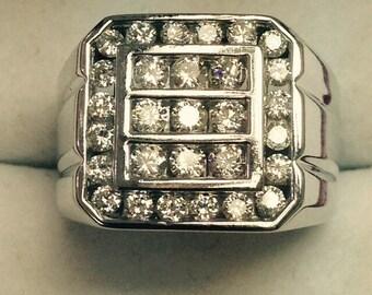 Mans  diamond ring