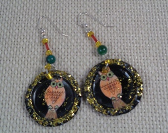 Wise Owl earrings (#E40)