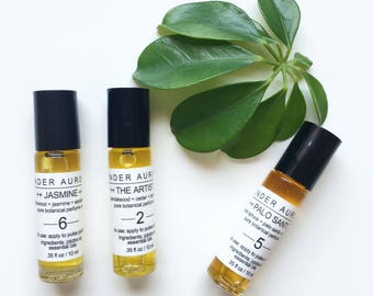 Botanical Perfume Oils - natural apothecary - essential oils and absolutes - no synthetics