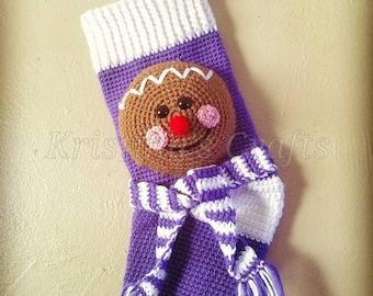 Gingerbread Man Stocking