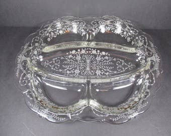 Vintage Cambridge Glass Portia 5 Part Relish Tray #3400/67