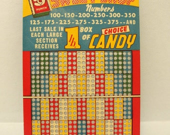Vintage Punch Board Game Bar Gambling Lottery Collectible Tavern Pocket Boards Mid Century Modern Mancave Decor