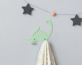 Metal coat rack, Dinosaur hooks for kids, Dinos bedroom decorative wall hanger, Dino décor