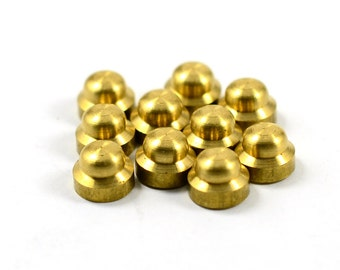 15 Pcs. Solid Brass  7x5 mm Knob Shape  Findings