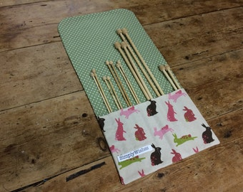 Rabbits Patterned Knitting Needle Roll