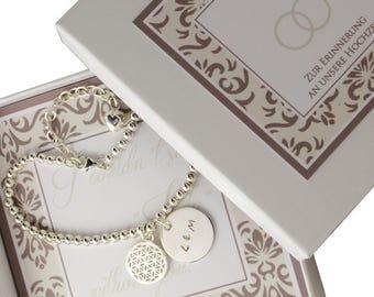 Bracelet with engraved name bridal bracelet