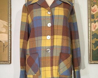 Classic 1950s 60s Pendleton 49er Wool Jacket -- Lovely, but Needs TLC
