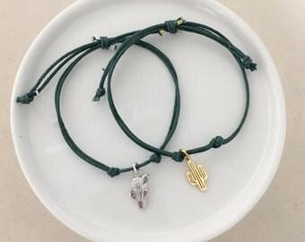 Cactus Cord Bracelets - Dainty Bracelet