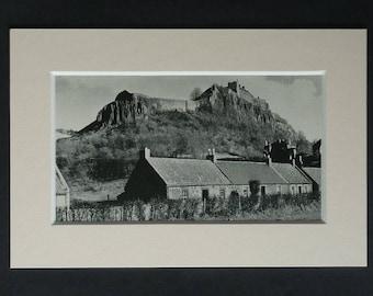 1930s Antique Stirling Castle Print, Available Framed, Raploch Art, Raptap Wall Art, Scottish Picture, Scotland Photography, PrimrosePrints