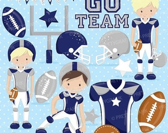 80% OFF SALE American football clipart commercial use, football vector graphics, super bowl digital clip art, digital images - CL722
