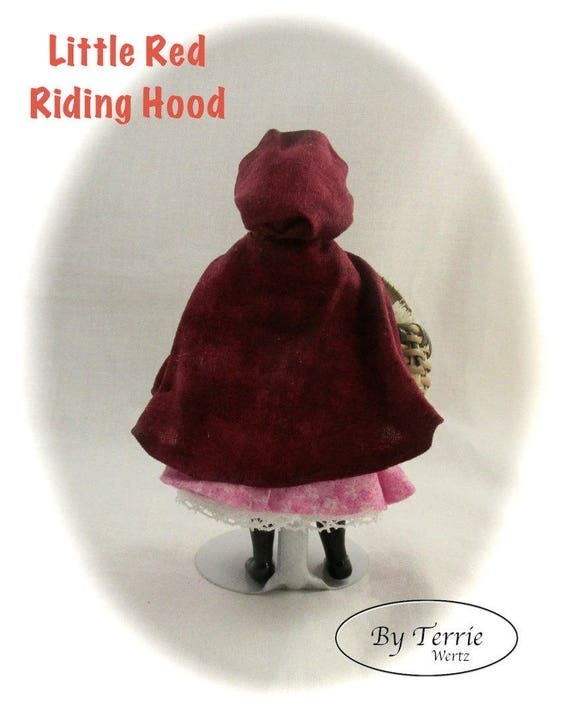 Knitting Pattern For Little Red Riding Hood Doll : Dollhouse Doll Girl Little Red Riding Hood Doll Pattern ...