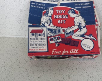 Your CHOICE Red or Yellow Plasticville House in Original Box