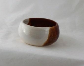brown pottery Shaving Bowl