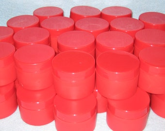 Supplies-Red Jars with Lids-DIY-Event Planner-Cosmetic Supplies-Soap Supplies .