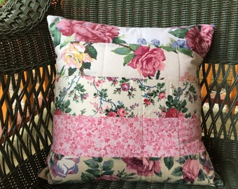 Floral Patchwork Pillow Cover: Refugee-Made