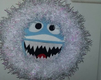 Abominable snowman Rudolph bumble Christmas wreath