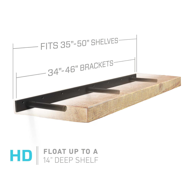 Floating Shelf Bracket For 35 To 50 Long Floating