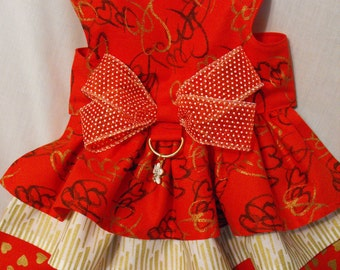 Red and Gold Valentine dress