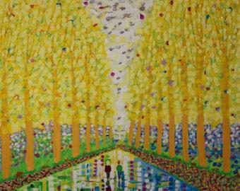 Poplars, Color and Light II