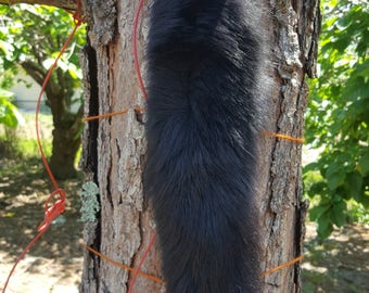 Black Dyed Arctic Fox Tail